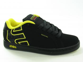 Etnies Rockstar Fader-NC Black-Grey-Yellow Mens Footwear Trainer